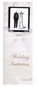 Bride dress & suit wedding invitation