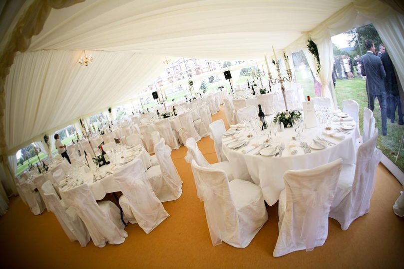 The marquee wedding