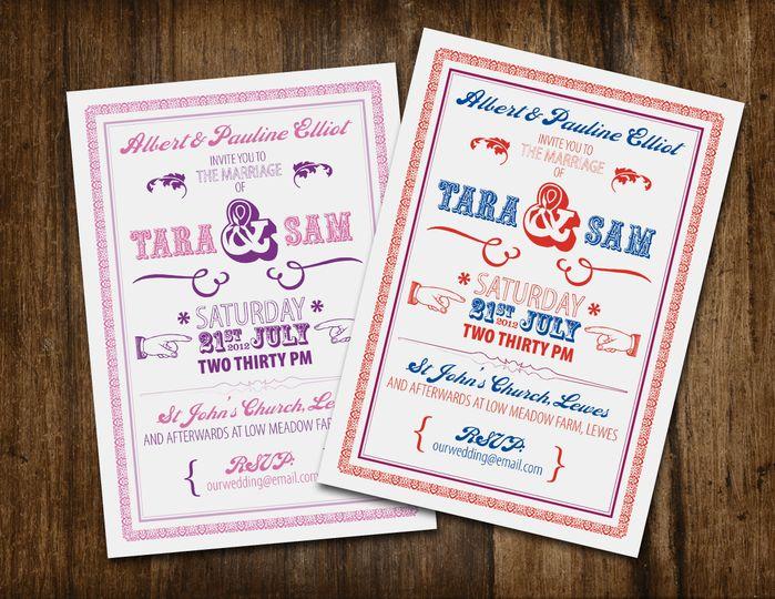 Beau wedding stationery