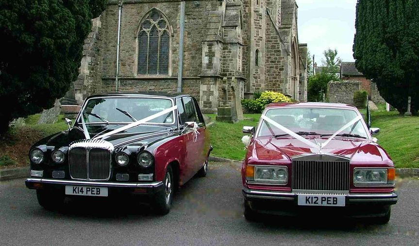 Our Rolls Royce and Daimler complementing each other for another happy couple