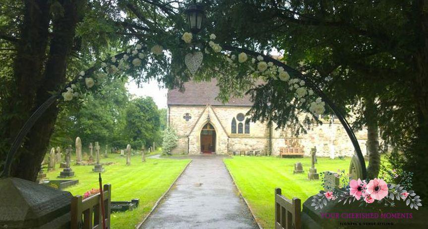 Church Archway flowers