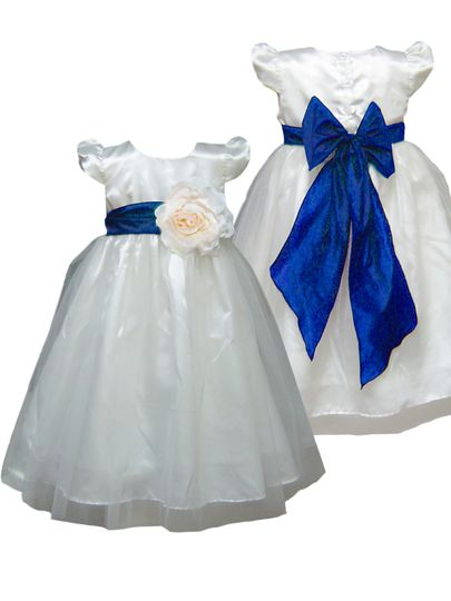 Royal Blue Sash Bridesmaid From Pink Girl Dresses Flower Girl