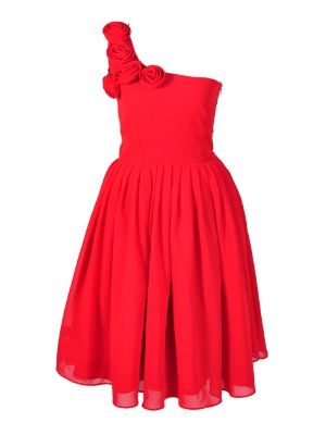 Red Rose Bridesmaid Dress