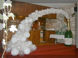 Champagne balloon archway
