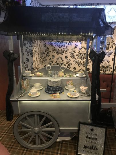 Sliver glitter sweet cart