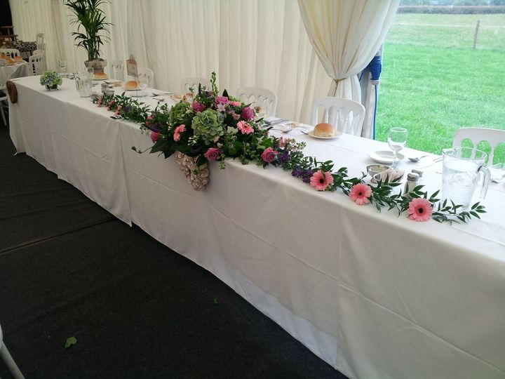 Top Table display