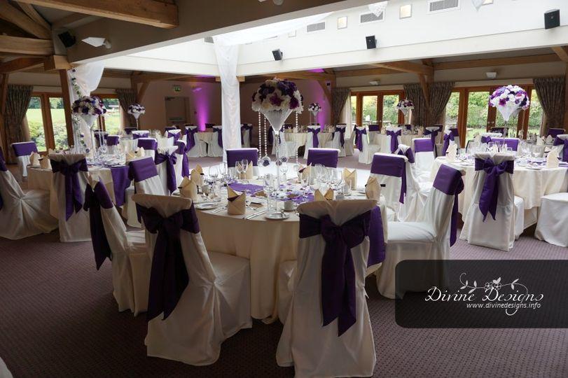 Deep purple wedding