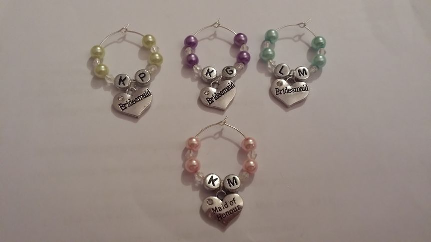 Personalised glass charms