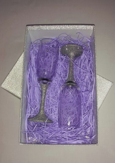 Glitter glasses gift boxed