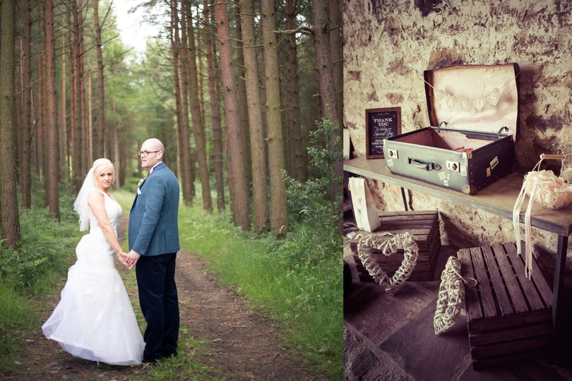Forest wedding, rustic