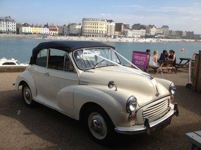 Morris Minor Convertible Wedding Car