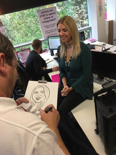 On the spot event caricatures