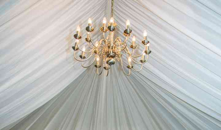Marquee draped barn