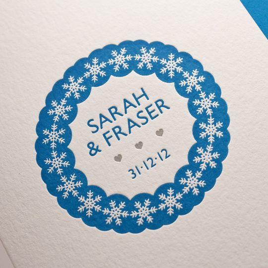 'Snowflake' Design - Letterpress