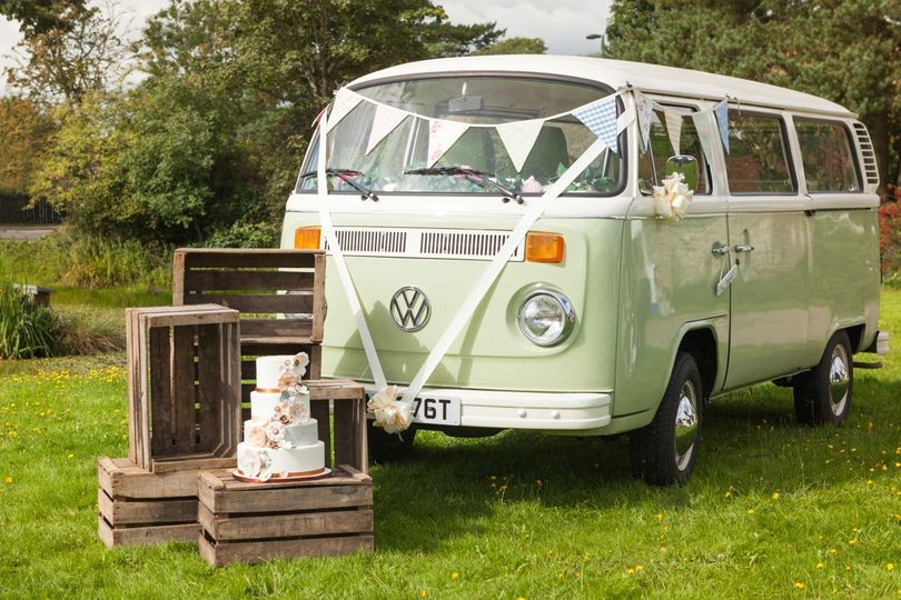 Vw camper wedding surrey