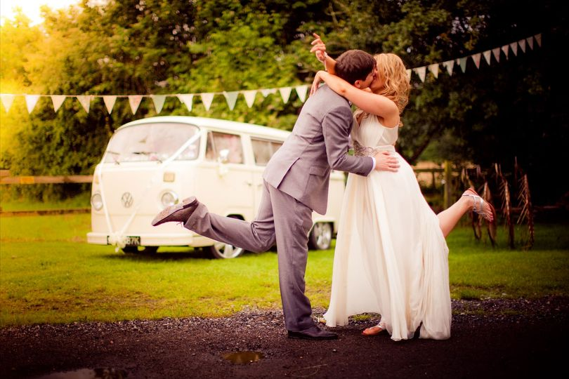 Cream vintage wedding vwcamper