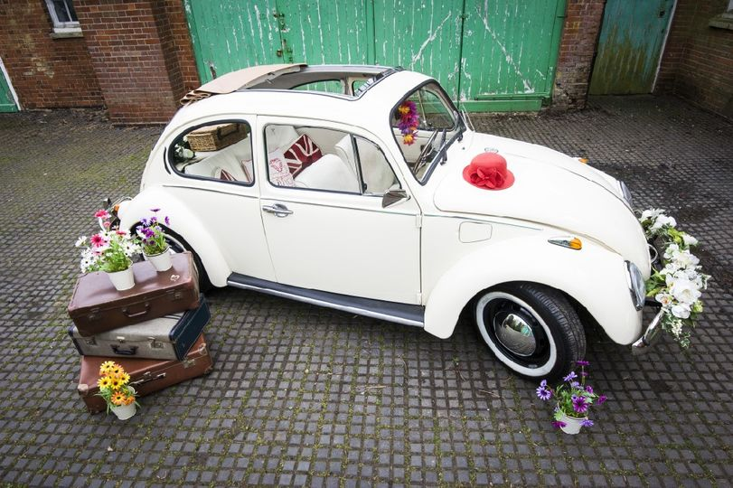 Vw beetle wedding car