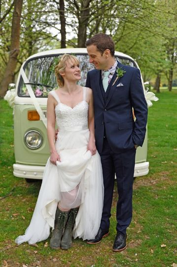 Campervan wedding car Surrey