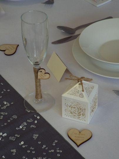 Rustic wedding items