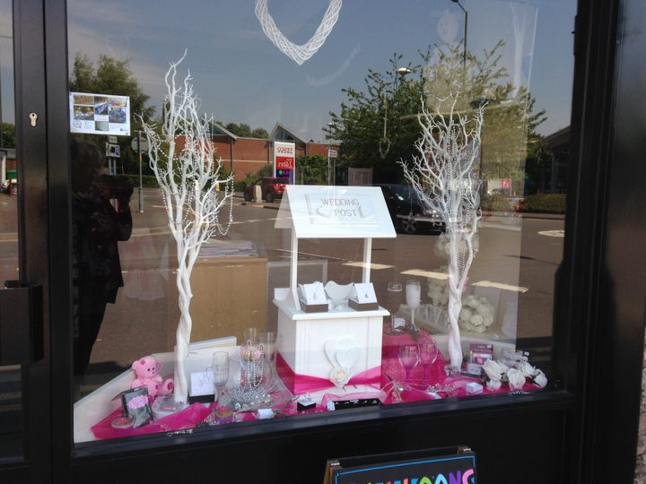 Shop front in hot pink