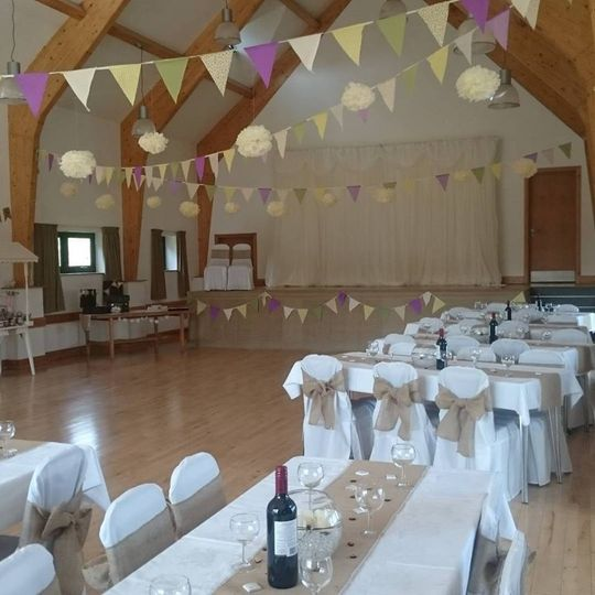 Hessian sashes and  runners