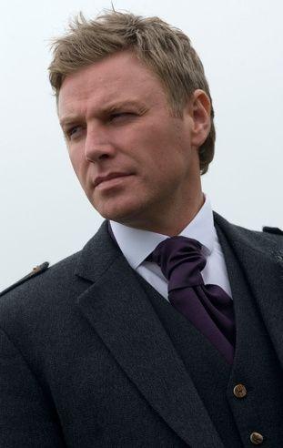 Dark purple scrunch tie