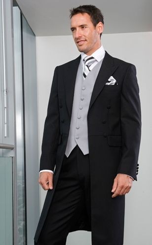 Black suit with Grey waiscoat