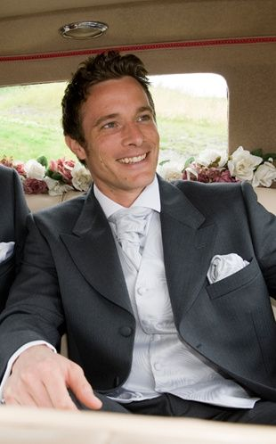 Grey suit with silver waistcoat
