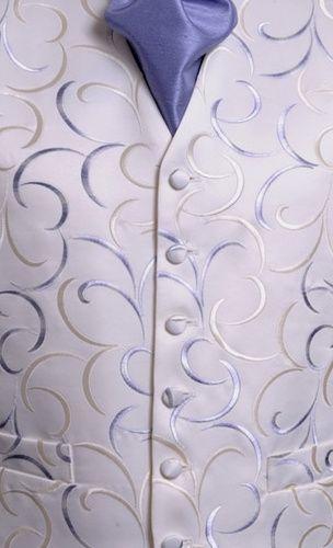 Cream & lilac swirl waistcoat