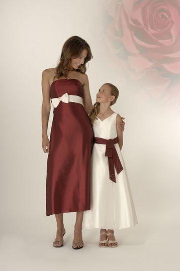 Trixie burgundy dress