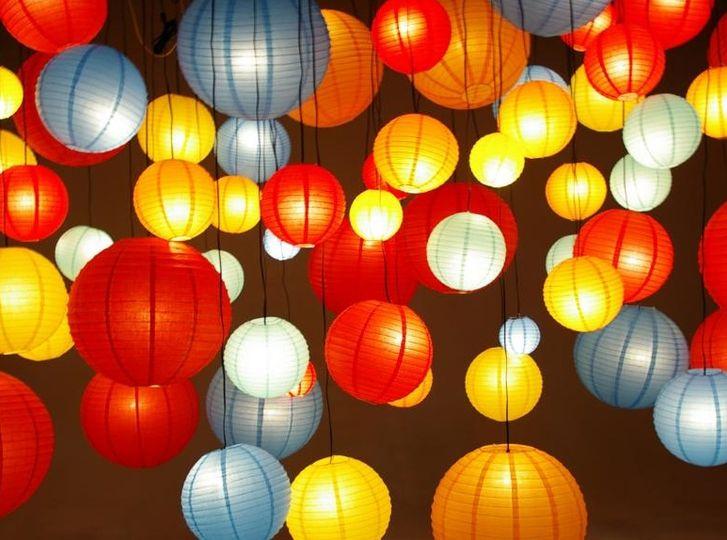 Lanterns in vibrant color