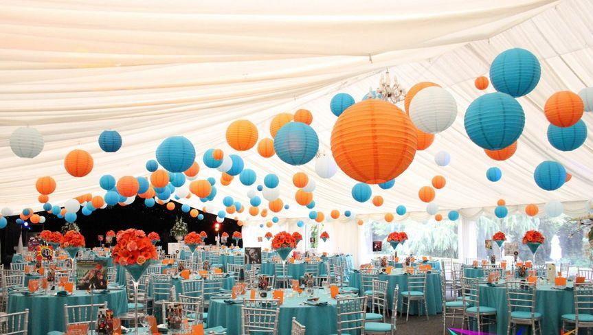 Bright and bold colour scheme