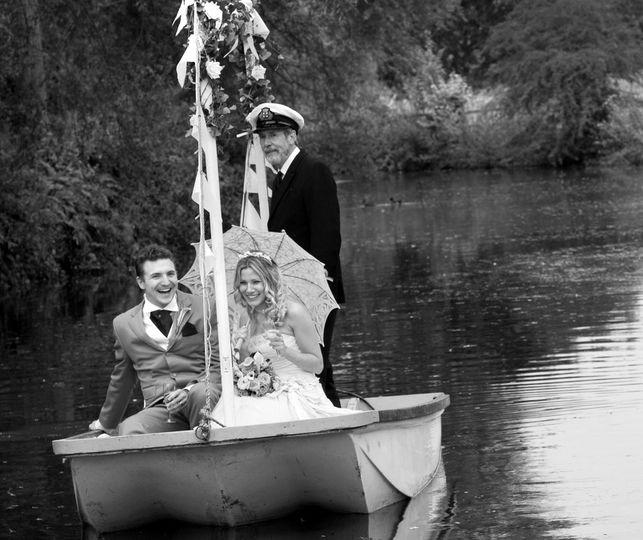 Boat man on Ardington Lake
