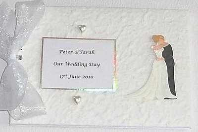 Bride And Groom White Personalised Wedding Guest Book