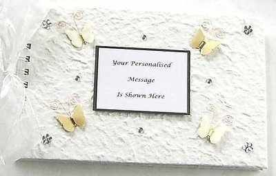 Wedding Guest Book Ivory And Cream Butterfly
