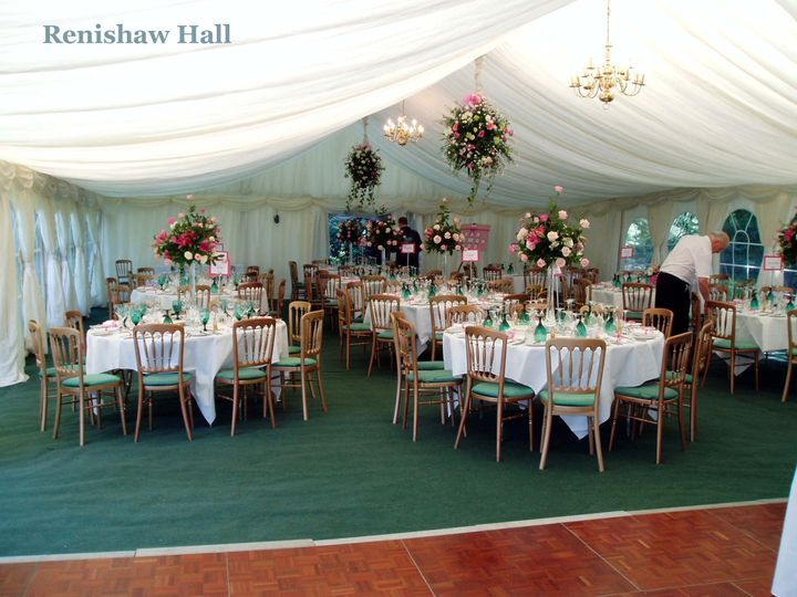 Renishaw Hall - Wedding Marquee Flowers