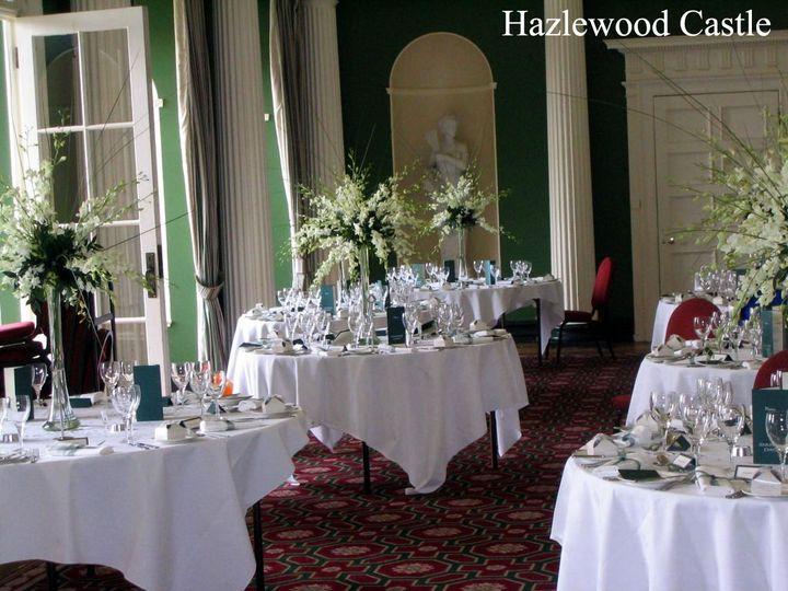 Hazlewood Castle - Table Arrangements