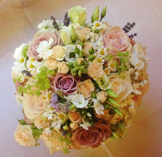 Spring wedding bride's bouquet