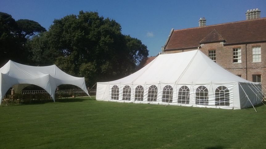 Traditional and capri marquee