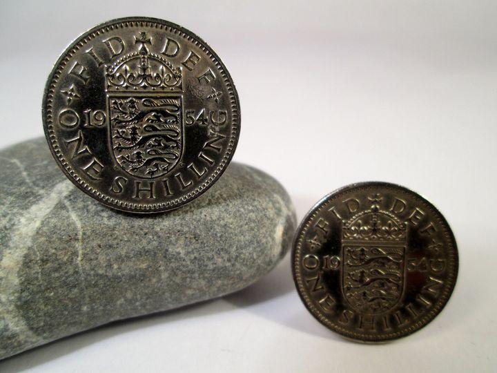 British coin cufflinks