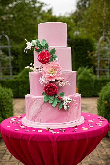 4-Tier Pink Marble