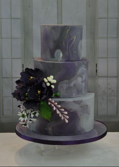 3-Tier Purple Marble