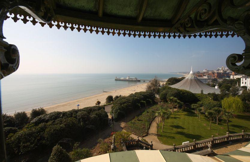 Beautiful garden and sea view