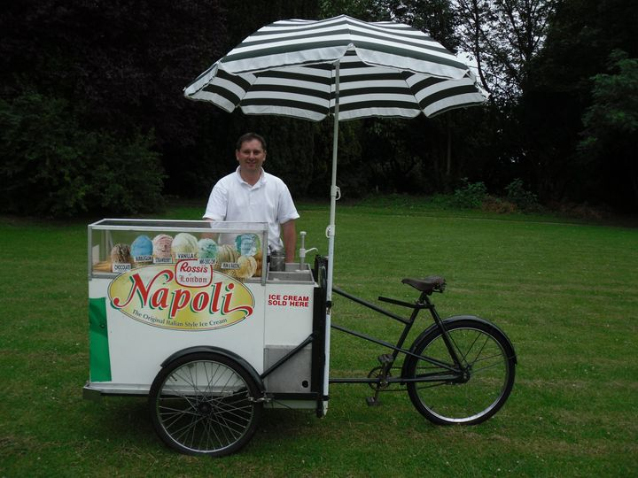 Wedding Ice cream bike - van