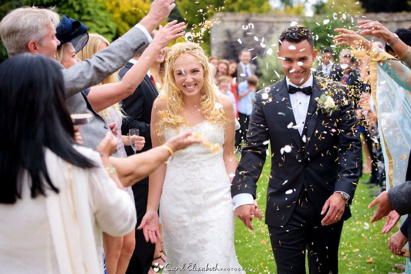 Caswell House wedding confetti