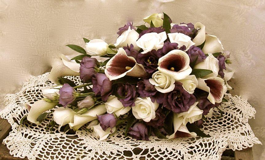 Purple shower bouqouet