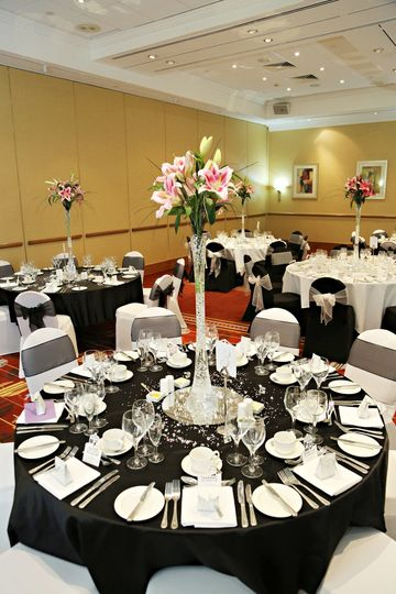 Lily table centres