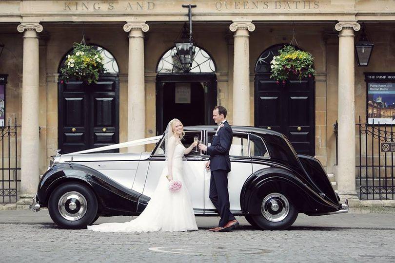 Wedding Car Roman Baths