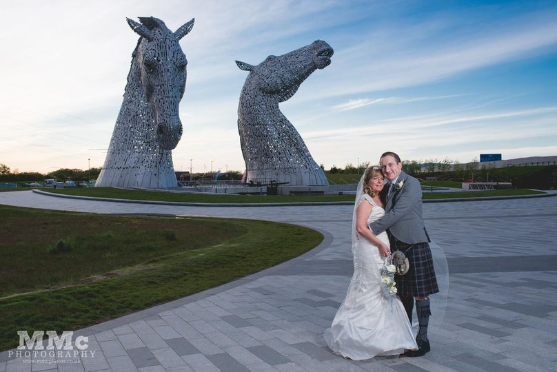 Wedding at the kelpies