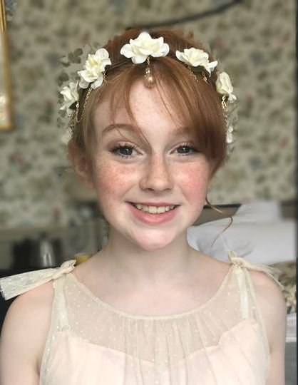 Flower Girl Hair and Makeup